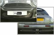 Zunsport Silver Front And Rear Grille For Mini Cooper S 2001-06 Zbm1501