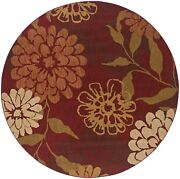 Infinity By Oriental Weavers. Transitional Floral Area Rug. Red/beige 1134d