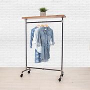 Industrial Pipe Clothing Rack With Cedar Wood Top Shelf William Robertand039s Vintage