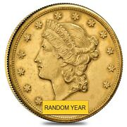 20 Gold Double Eagle Liberty Head - Polished Or Cleaned Random Year