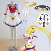 Athemis Halloween Sailor Moon Tsukino Usagi Super S Cosplay Costume Custom Made