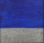 Contemporary Minimalist Color Field Painting Blue Revolution Arc Gallery Chicago