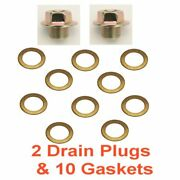 2 12mm 1.25 Regular 14mm Hex Drain Plug And 10 Copper Gaskets Rpl 11128-01m05