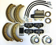 1937 1938 Plymouth Brake Master Overhaul Kit Shoes Cylinders Hoses Seals Etc New