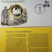 1972 Temple Square Utah Great Historic Sites Medal Proof Silver First Day Cover