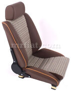 For Porsche 911 Sport S Model Sport Seat Brown Leather Houndstooth New