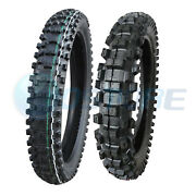 Max Motosports 80/100-21 110/90-19 Front And Rear Motorcycle Tire Kit - 2 Tires