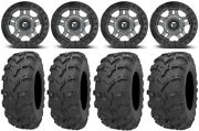 Fuel Anza Beadlock Gm 14 Wheels 28 Bear Claw Evo Tires Polaris Ranger Xp 9/1k