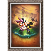 Disney Parks Mickey Minnie Life With You Is Dream Framed Le Giclandeacutee By Noah New