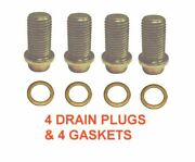 4 14mm 1.50 13mm Hex Drain Plugs And 4 Copper Gaskets Rpl 6019970230 Mercedes