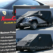 2009 2010 Jeep Wrangler 4-door Unlimited Breathable Car Cover W/mirrorpocket