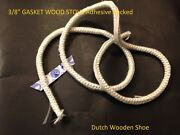 20 Feet 3/8 Stove Seal Tape Fire Rope 3/8 Gasket Wood Stove Adhesive Backed.