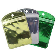 Various Qty Glossy Clear And Gold Hanghole Small Storage Quickqlickandtradebags 4x6