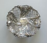 19th C. English James Dixon And Sons Reticulated Pedestal Dish, C. 1894, 169 Grams