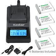 Kastar 4 Battery And Fast Charger Kit For Canon Nb-6l Nb6l Nb-6lh Nb6lh Cb-2ly
