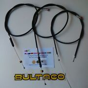 Bultaco Lobito Kit 3 Cables Clutch Front Brake Throtle Bultaco Cables New