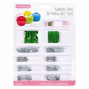 Safety Pin And Needle Set Assorted Needles And Pins Tape Measure Sewing Kits Dw