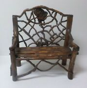 Vintage Hand Crafted 13.5 Dolland039s Country / Primitive Twig Settee 2