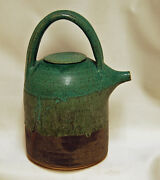 Studio Art Pottery Stoneware Ceramic Green Tea Pot