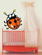 Ced181 Full Color Wall Decal Sticker Funny Animals Ladybug Bedroom Kids Nursery