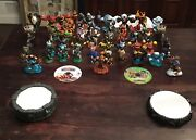 Skylanders Lot 58 Figures, Portal And Disc For Xbox, Portal And Disc For Wii