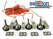 4 Ntep Shear Beam Load Cell Sensors For Platform Floor Scale 4000lb, Foot, Space