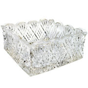 Square Clear Glass Napkin Holder Buffet Dinner Table Display Crystal Storage New
