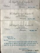 Antique Documents Mining And Transportation 1898 Lehigh Coal And Navigation Co.