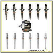 2004.5-2007 5.9 Injector Deluxe Set Of 6 For Dodge Cummins With New Pump And Tubes
