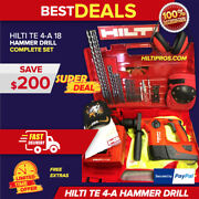 Hilti Te 4-a18 Cpc Cordless Hammer Drill, Preowned, Looks New Fast Shipping