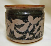 Studio Art Pottery Stoneware Bowl Vase Planter Flower Pot Jar Blue AJ