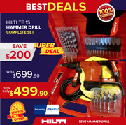 Hilti Te 15 Hammer Drill W/ Wood Chuck Adapter Great Condition Free Extras