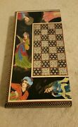 Unique Chess And Backgammon Hand Made Persian Khatam Amazing Collectibleandnbsp