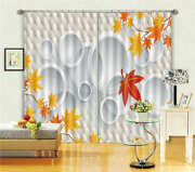 Orange Red Maple Leaves 3d Curtain Blockout Photo Printing Curtains Drape Fabric