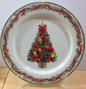 Dansk Nordic Holiday Fruit Tree 1 Dinner Plate Holiday Christmas Holly Portugal