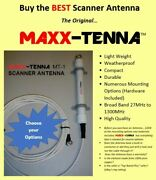 Maxx-tenna Multi Band Scanner Antenna With Coax Cable And Mounting Hardware