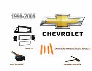 Fits 1995-2005 Chevy Truck,van Select Model Stereo Install Dash Kit,wire Harness
