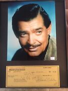 Clark Gable Signed Check /comes With Photo 2coaand039s Uacc Registered Dealer Rare