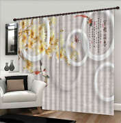 Antique Scenery Poetry 3d Curtain Blockout Photo Printing Curtains Drape Fabric