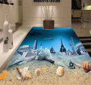 Submarine City 3d Floor Mural Photo Flooring Wallpaper Home Print Decoration
