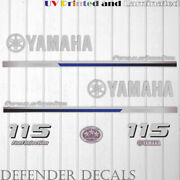 Yamaha 115 Hp Four Stroke Outboard Engine Decal Sticker Kit Reproduction 2013