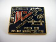 Vintage Collectible Pin Jackhammer Camp Out 1986 Oakland Motorcycle Club Poker