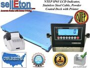 Ntep Legal 48 X 72 Floor Scale Industrial Warehouse And Printer 5000 X 1lb
