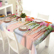 Long Flower Vine 3d Tablecloth Table Cover Cloth Rectangle Wedding Party Banquet