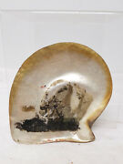 Antique Oil Painting Sketch The Panther William Bradford Shell Abalone