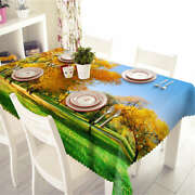 Full Tree Leaves 3d Tablecloth Table Cover Cloth Rectangle Wedding Party Banquet