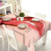 Ruddy Lip Color 3d Tablecloth Table Cover Cloth Rectangle Wedding Party Banquet