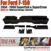 Du-ha 20004 Underseat Storage For 04-08 Ford F-150 Supercab And Supercrew Black