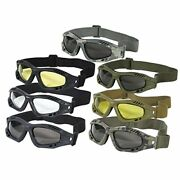 Voodoo Tactical Mens Sportac Goggle Glasses With Shatterproof Polycarbonate Lens