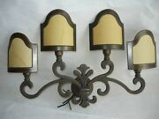 Wall Lamp Florentine Lily Brass And Parchment 4 Lights